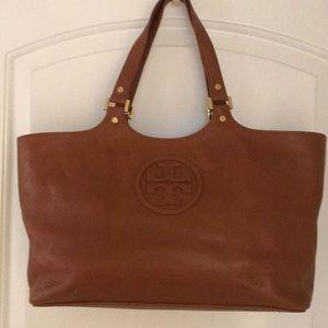 Tory Burch Leather Purse- caramel brown